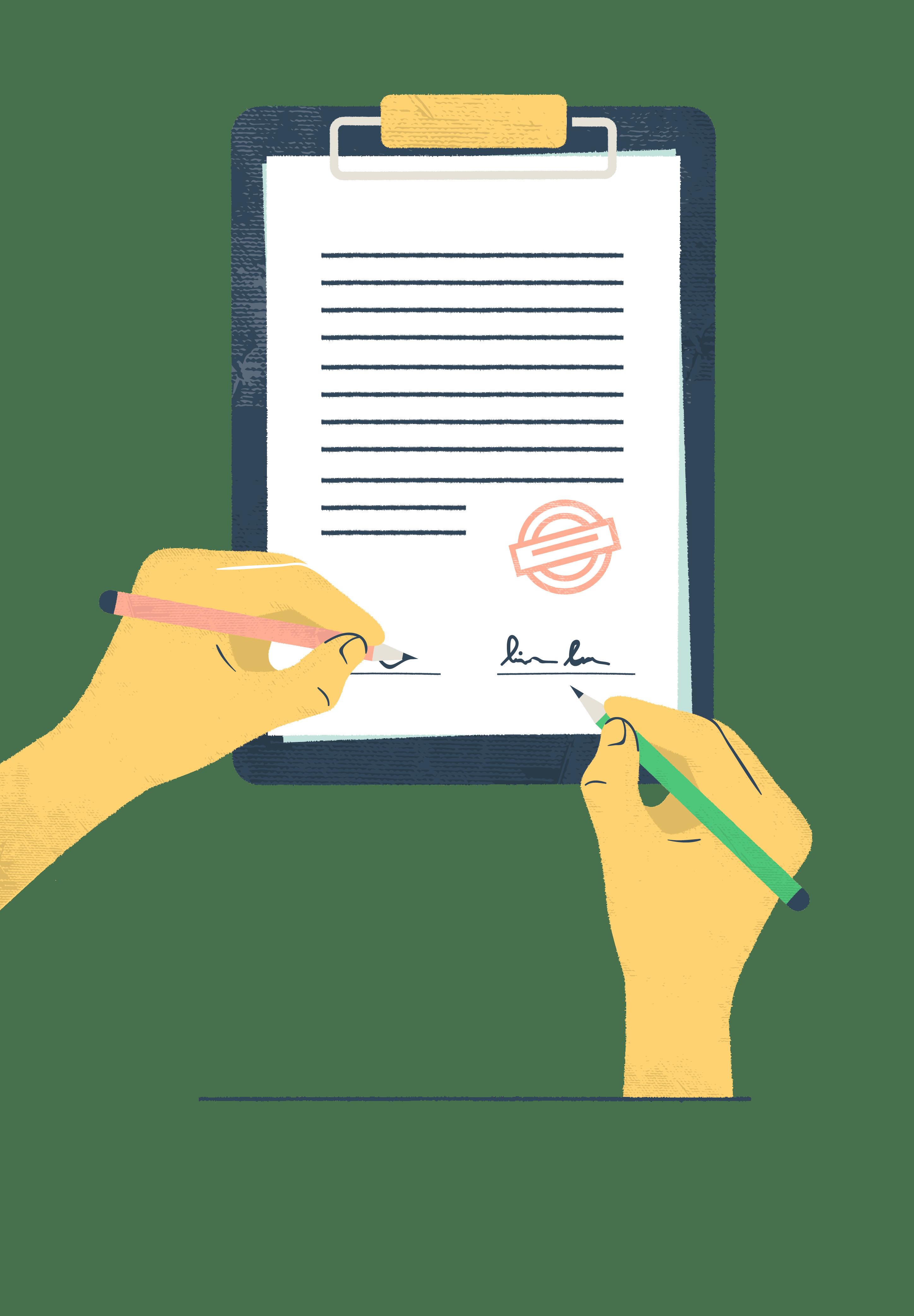 Kuvituskuva: sopimukset