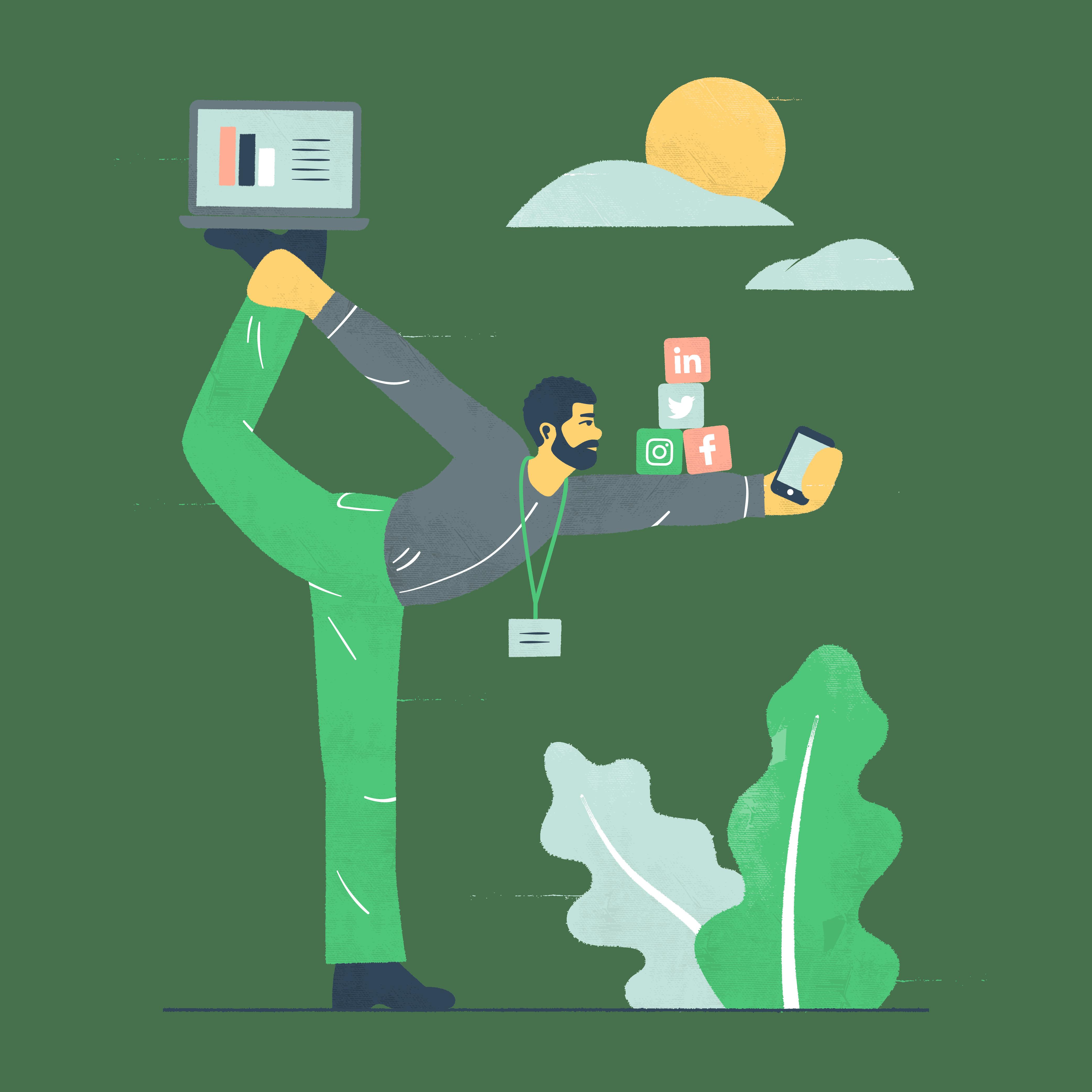 Kuvituskuva: myynti ja markkinointi
