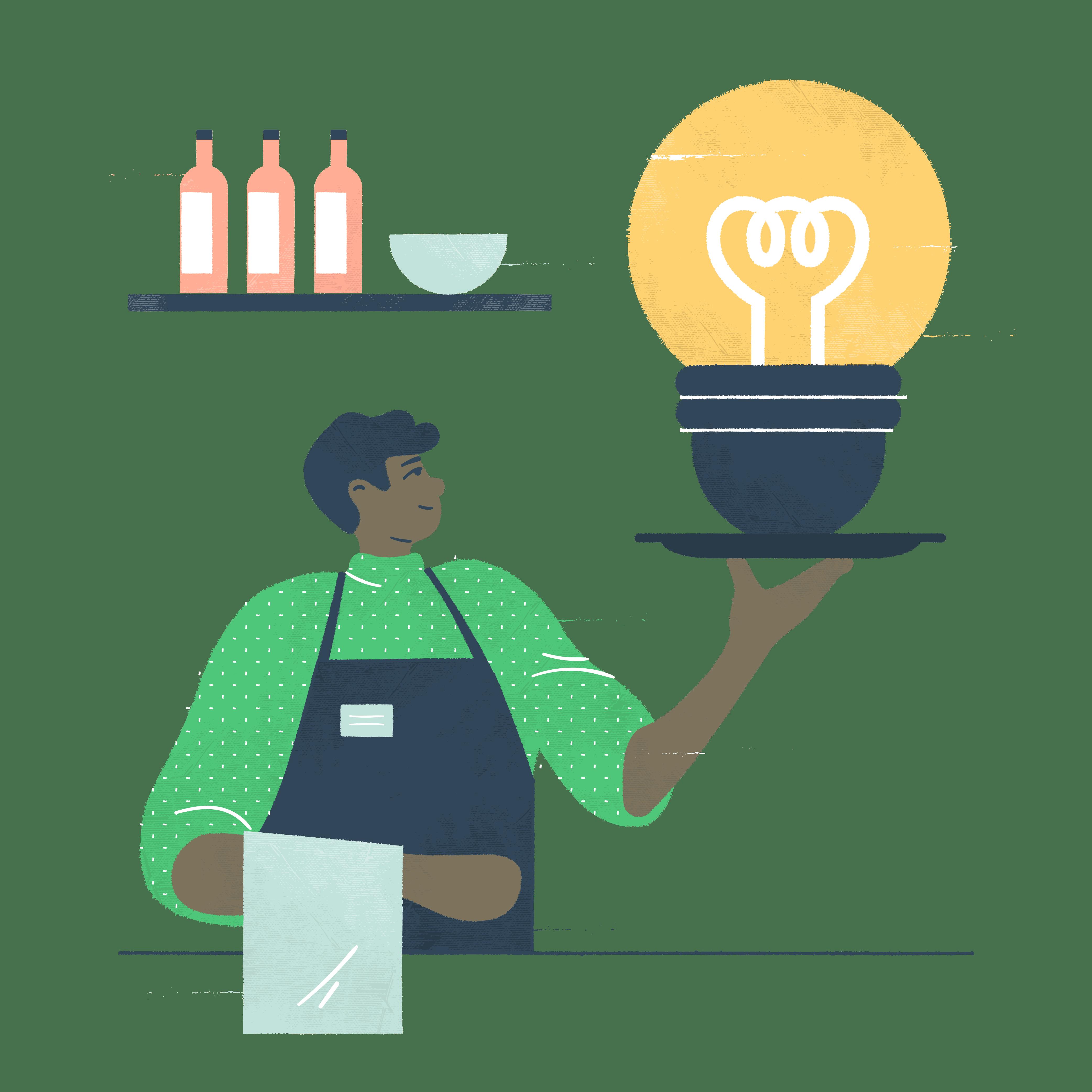Kuvituskuva: yritysideasta liikeidea